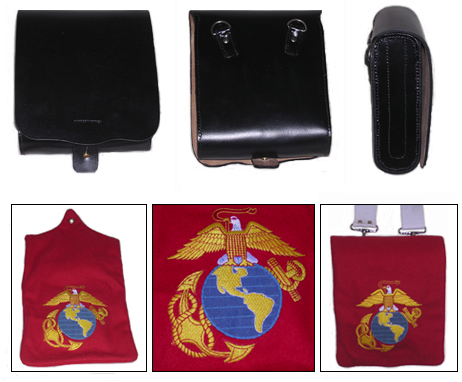 USMC Band Leather Pouch, Cover & Strap [#USMC1]