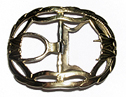 Civilian Shoe Buckle, Brass [#84]