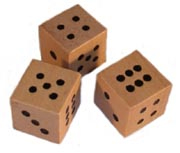 Wooden Dice [#GG4]